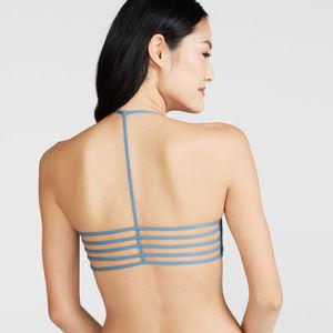LLD (Blue) Strappy T-Back Bralette Sz S